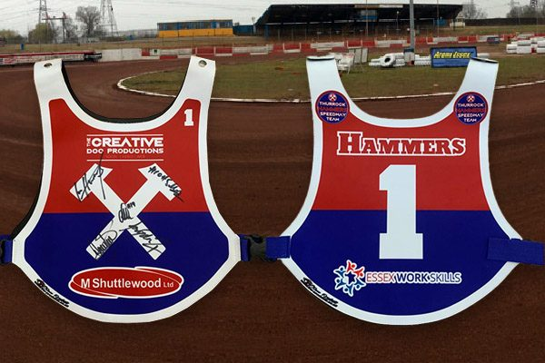 Thurrock Hammers Speedway Signed bib